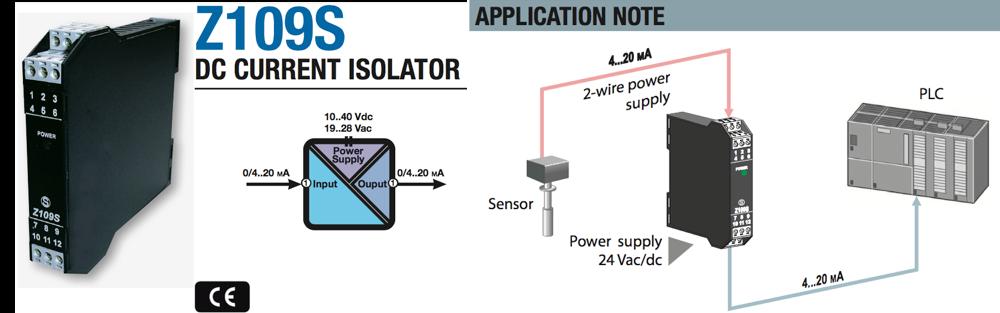 bộ cách ly tín hiệu 4-20mA Seneca Z109s