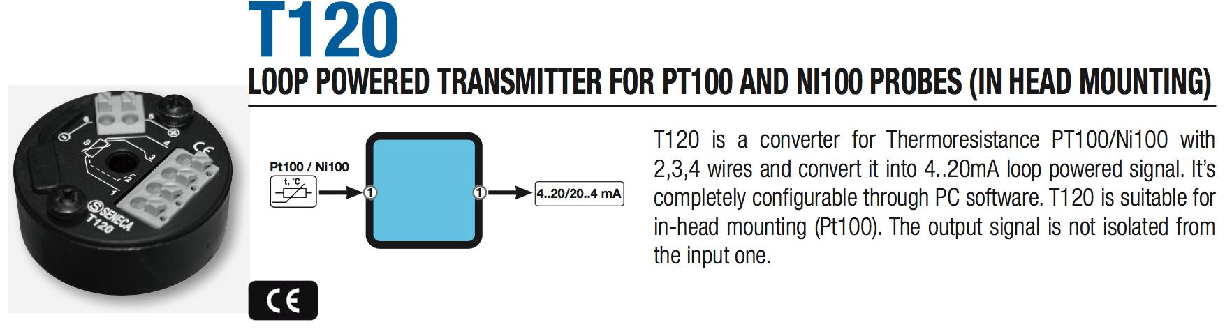 bộ chuyển đổi tín hiệu pt100 T120