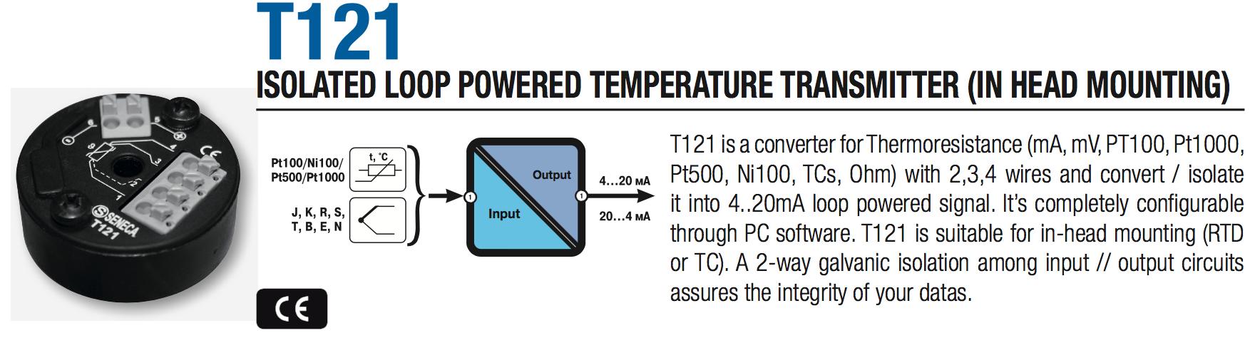 bộ chuyển đổi tín hiệu pt100 T121
