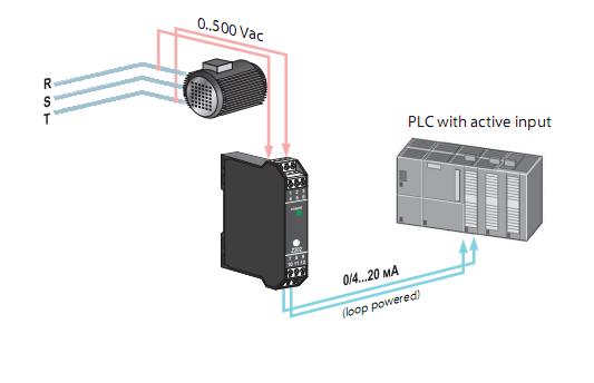 giám sát điện áp bằng bộ chuyển đổi AC ra 4-20mA