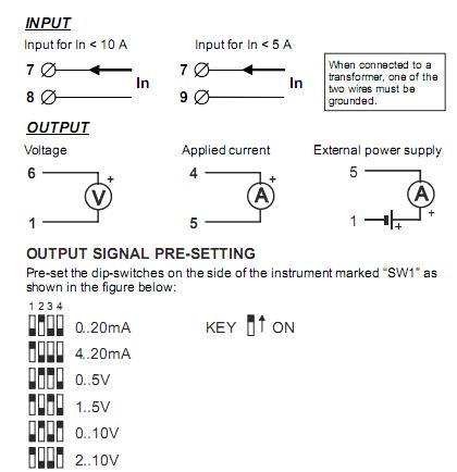 cách đấu dây tín hiệu cho bộ chuyển đổi ac ra 4-20ma