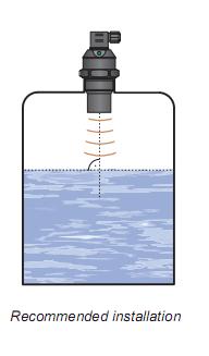 cách lắp đặt cảm biến siêu âm đo mức chất lỏng
