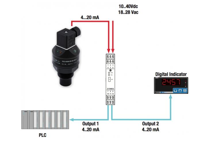 giám sát mức nước bằng cảm biến siêu âm đo mức nước thải