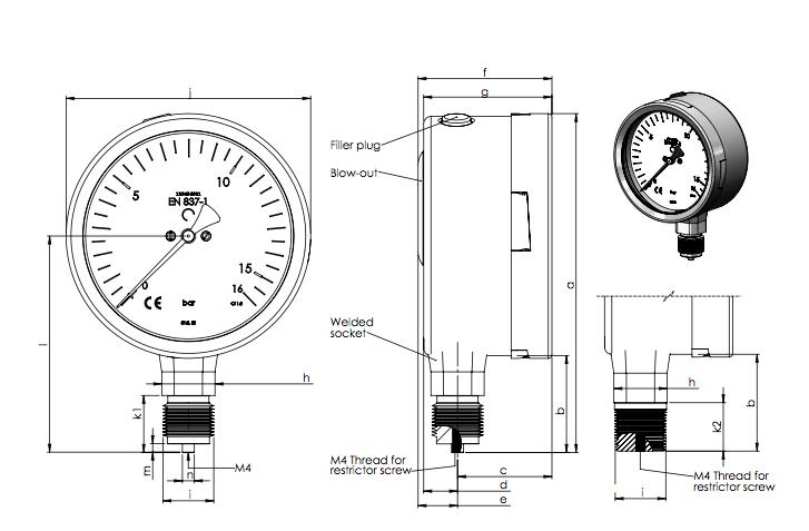 đồng hồ đo áp suất của hãng Stiko