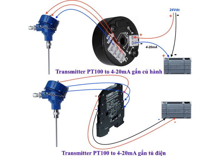 transmitter pt100 to 4-20ma