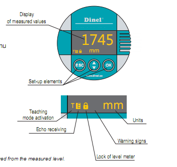 bộ hiển thị của cảm biến báo mức nước radar