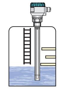 cảm biến đo mức radar có ống bảo vệ