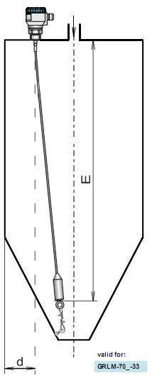 cố định cảm biến đo mức radar bằng neo