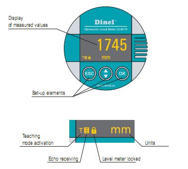 đồng hồ hiển thị trên cảm biến siêu âm báo mức nhiên liệu