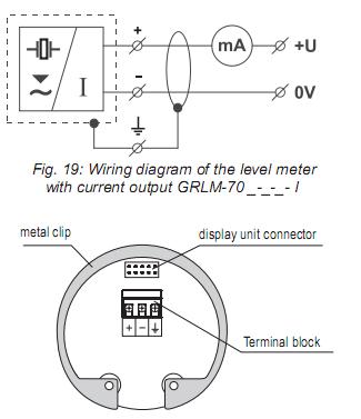 đấu dây tín hiệu ngõ ra cảm biến đo mức radar