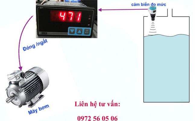 đồng hồ báo mức dầu dạng hiển thị