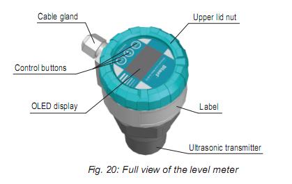 bộ hiển thị của cảm biến đo mức nước 4-20mA