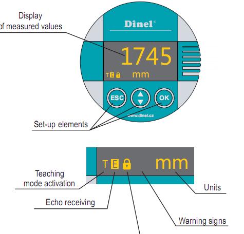 bộ hiển thị của cảm biến siêu âm đo mức nước ULM-70N-06