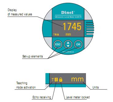 Bộ hiển thị của thiết bị đo mức nước liên tục