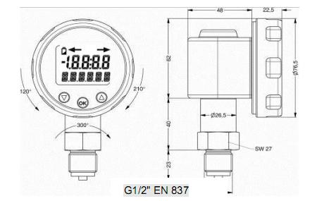 Đồng hồ đo áp suất điện tử châu Âu