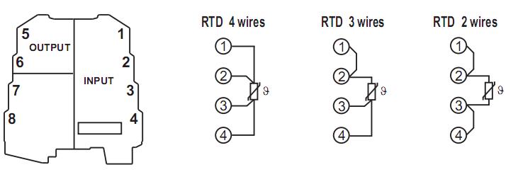 Đấu dây cho bộ chuyển đổi PT100 ra 4-20mA