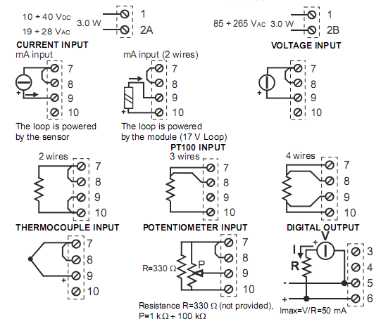 Đấu dây ngõ vào cho bộ hiển thị nhiệt độ PT100