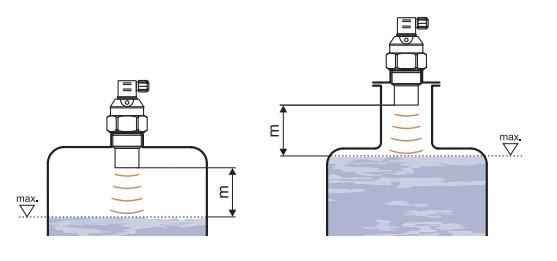 Cảm biến đo mực nước trong bể bằng siêu âm