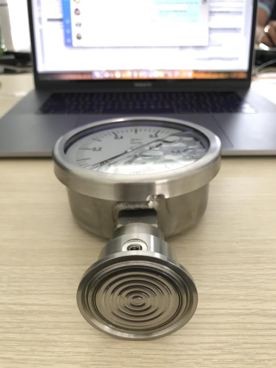 Đồng hồ áp suất màng đo hóa chất