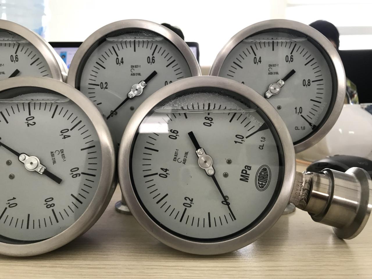 Đồng hồ áp suất màng đo hóa chất M5000 Pháp