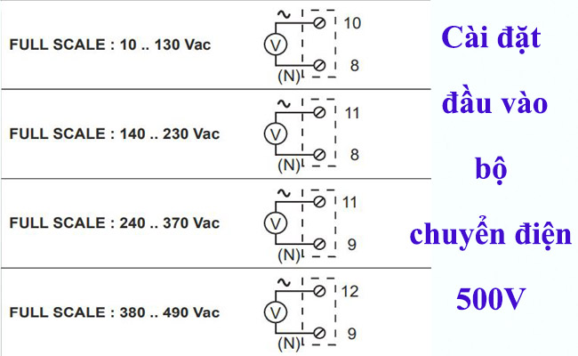 Cách cài đặt bộ đổi nguồn 500v 240v 220v 110v 24v sang 4-20ma
