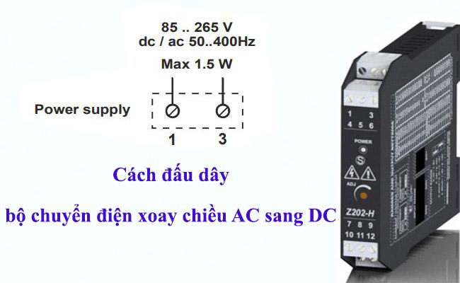 Cách đấu dây bộ chuyển điện 220V; 240V; 500V