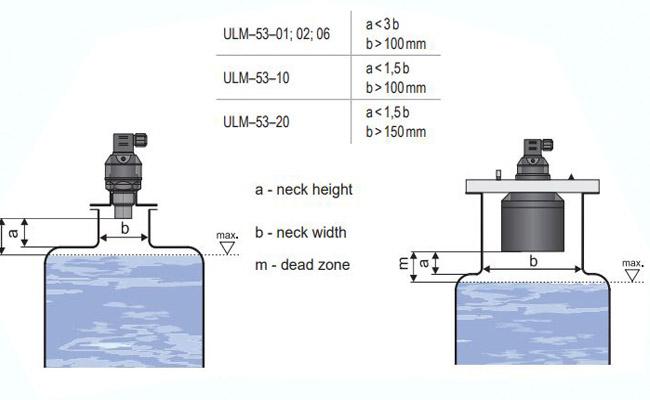 Cảm biến siêu âm đo mức chất lỏng ULM-53N-02