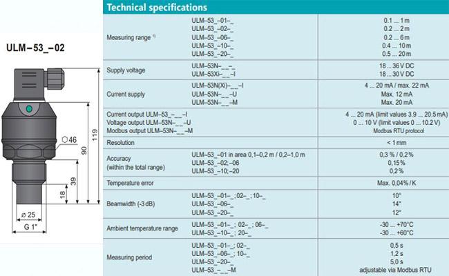 Cảm biến siêu âm ULM53-02