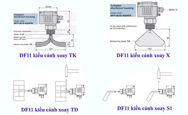 Cảm biến báo mức chất rắn DF11
