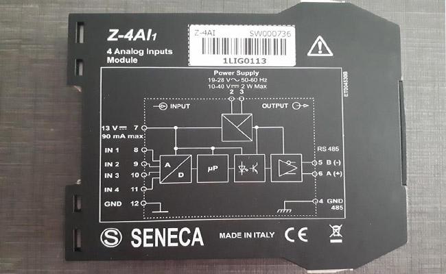 Bộ chuyển đổi tín hiệu 4-20ma sang modbus rtu z-4ai seneca