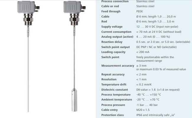 Cảm biến đo xi măng liên tục MWF27