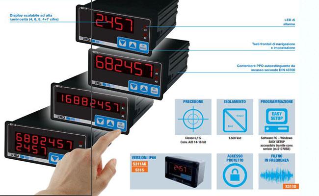 Thiết bị điều khiển can nhiệt pt100 seneca S311A-4-H-0