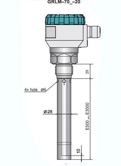 cảm biến đo mức dinel grlm-70xi-20