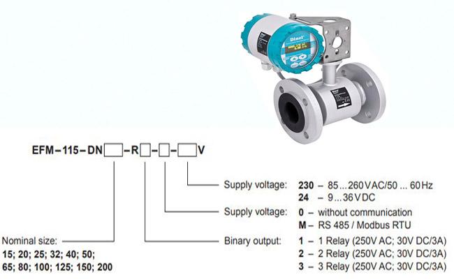cảm biến đo lưu lượng dòng chảy efm-115