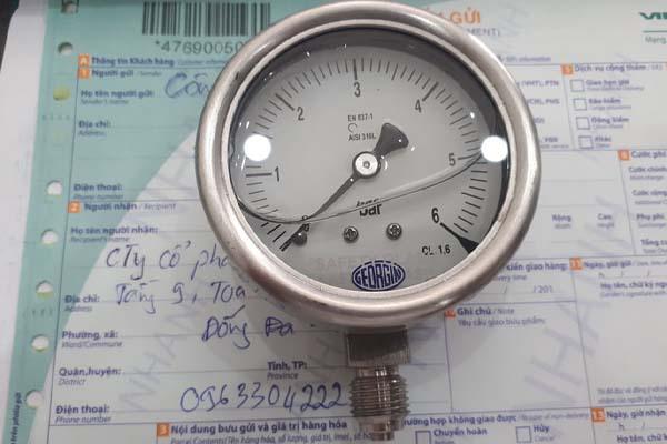đồng hồ áp suất mặt 63mm