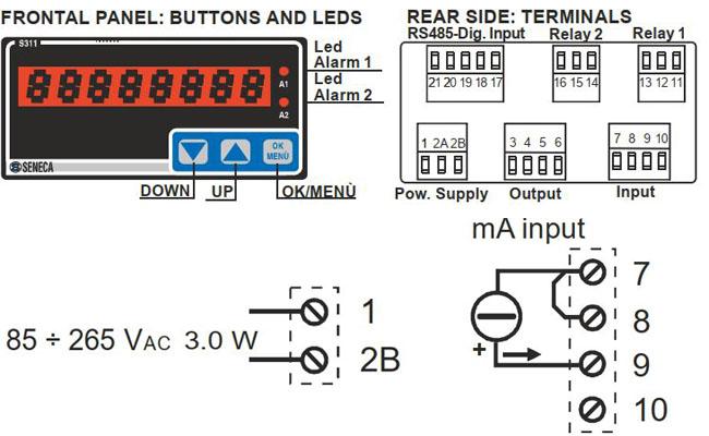 cách đấu dây bộ hiển thị nhiệt độ analog