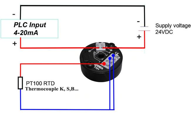 bộ chuyển đổi tín hiệu thermocouple t121