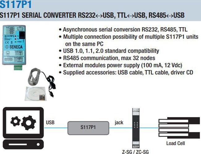 bộ chuyển đổi usb sang rs232 s117p1