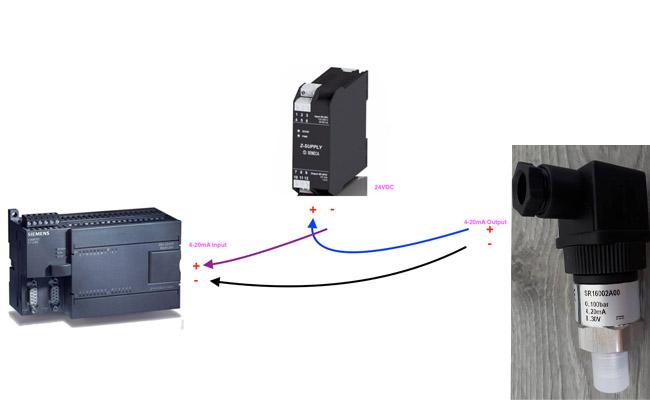 cách đấu dây cảm biến áp suất SR16002A00