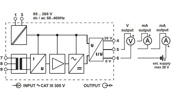 đấu dây bộ chuyển đổi z201-h seneca