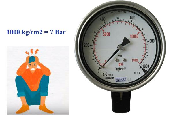 1000 kg/cm2 bằng bao nhiêu bar