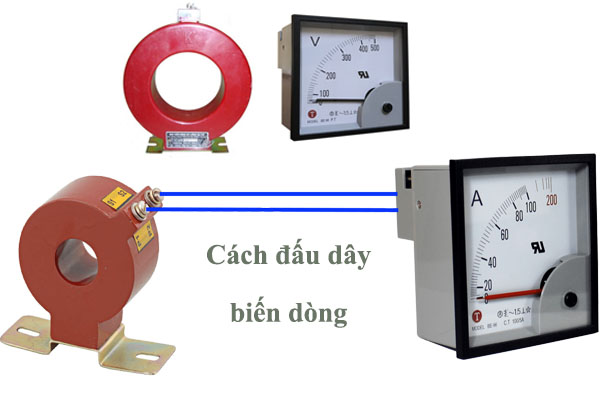cách đấu biến dòng vào đồng hồ điện ampe