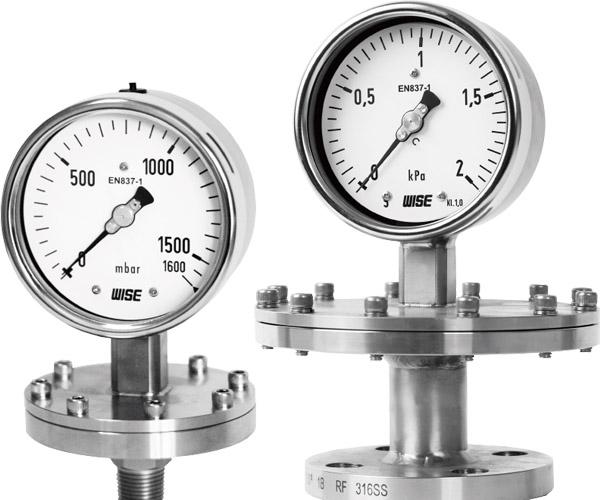 đồng hồ đo áp suất màng hãng wise