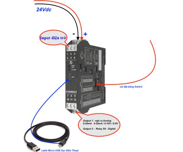 bộ chuyển đổi tín hiệu điện trở shunt ra analog