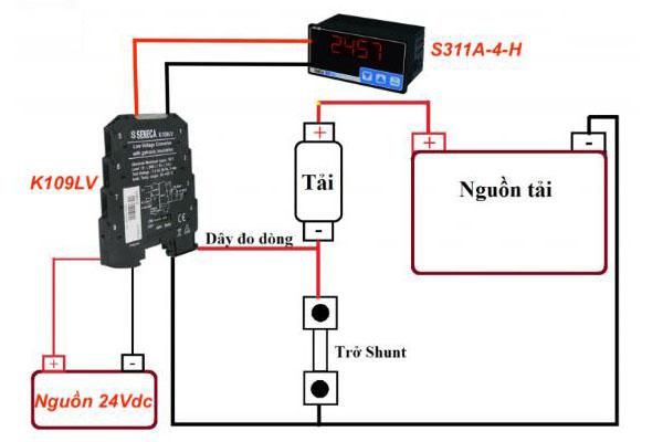 cách đấu dây bộ chuyển đổi tín hiệu seneca k109lv