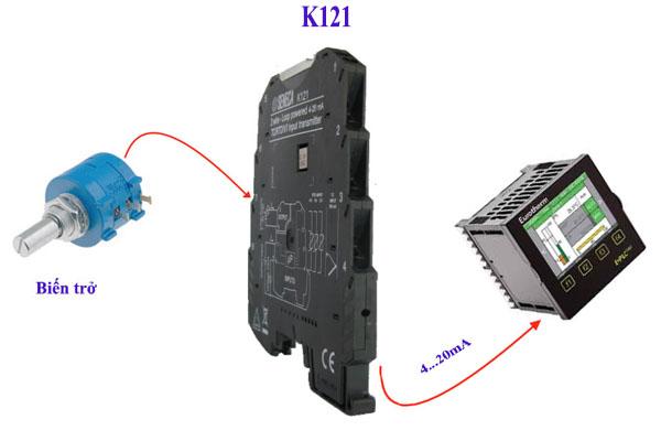 bộ chuyển đổi tín hiệu biến trở ra 4-20ma k121 seneca