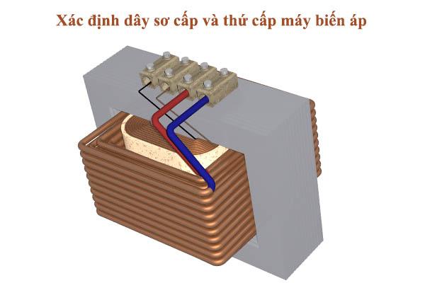 cách xác định cuộn sơ cấp và thứ cấp máy biến áp